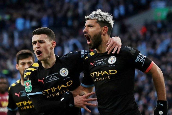 Manchester City juara Piala Liga  usai atasi Aston Villa 2-1