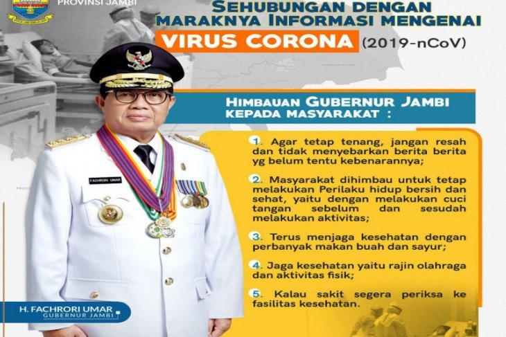 Gubernur Jambi instruksikan Dinkes tingkatkan deteksi virus Corona
