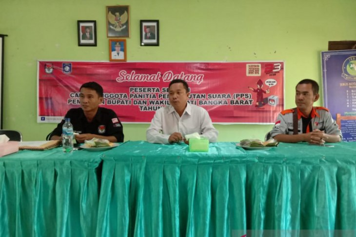 KPU Bangka Barat gelar seleksi tertulis PPS Pilkada 2020