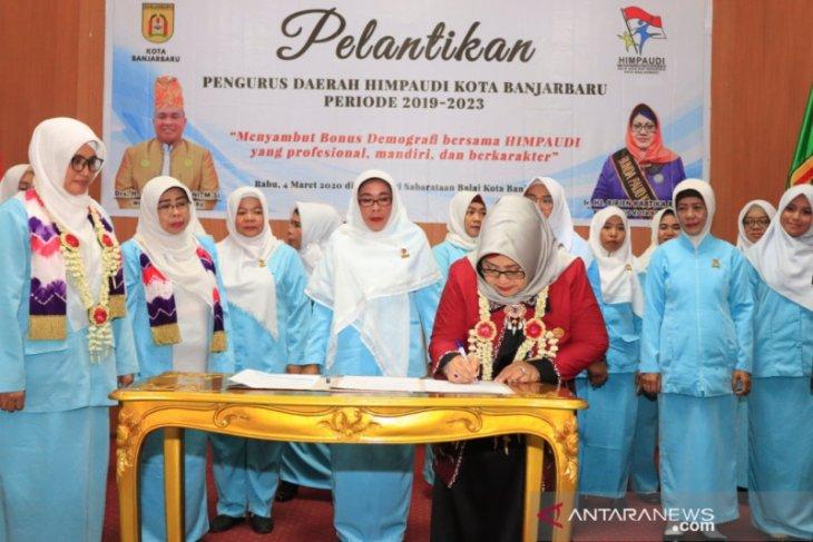 Pengurus Himpaudi Banjarbaru 2019-2023 dilantik
