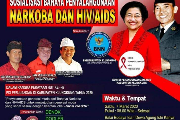 PDIP Bali gelar sosialisasi bahaya Narkoba dan AIDS