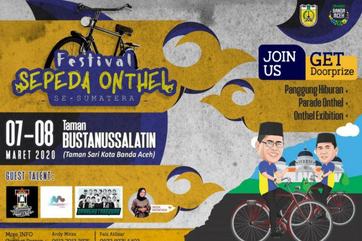 Ratusan peserta andil bagian di festival sepeda onthel se-sumatera