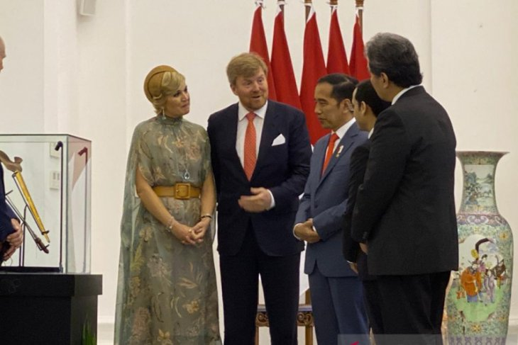 Raja Belanda kembalikan keris milik Pangeran Diponegoro ke Presiden Jokowi