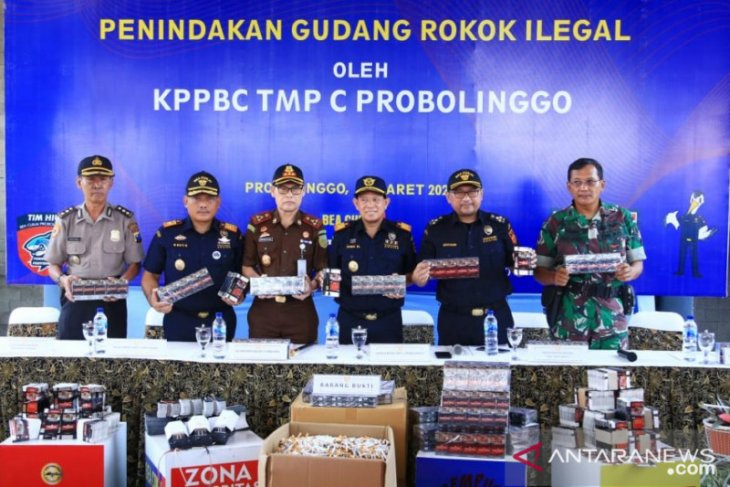 Bea Cukai Probolinggo sita rokok ilegal senilai Rp2,5 miliar