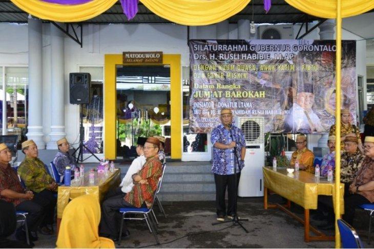 Gubernur Gorontalo dorong sedekah Jumat melalui aplikasi QRIS