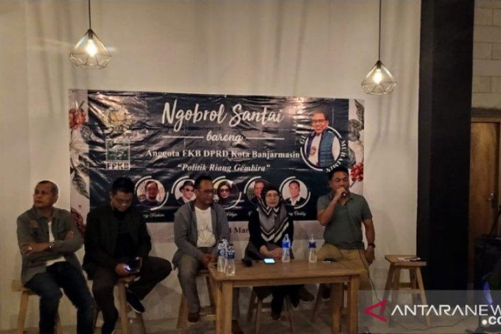Para politisi dewan PKB Banjarmasin berbagi cerita kepada millenial