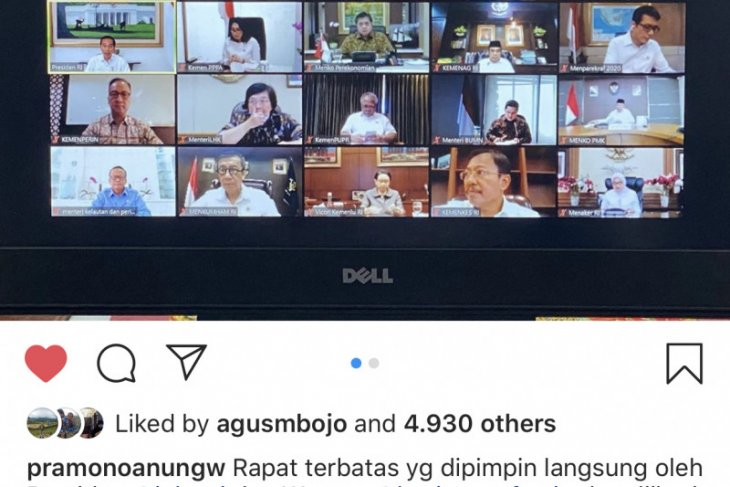 President holds cabinet meeting via video conference