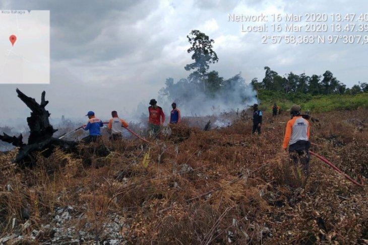 Lahan tidur terbakar di Aceh Selatan