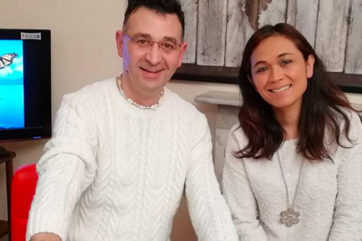Pasangan Indonesia - Italia ciptakan lagu solidaritas pencegahan corona