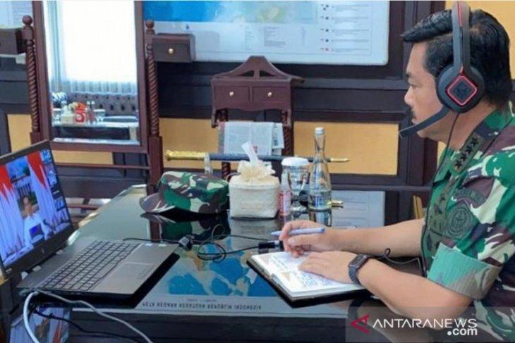 Panglima TNI-Presiden lakukan video conference tanggulangi COVID-19