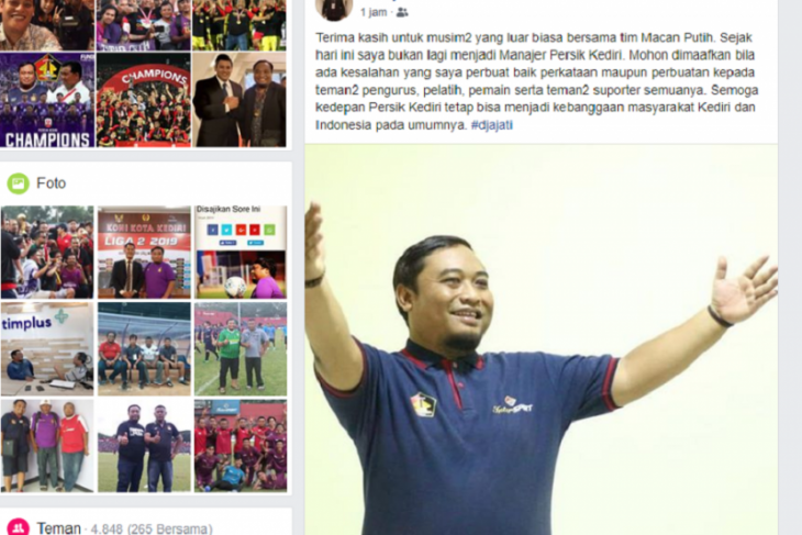 Manajer Persik Kediri Beny Kurniawan mundur