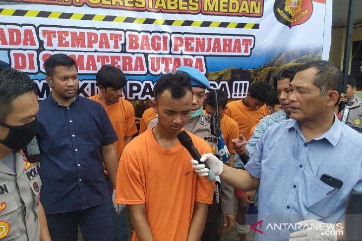 Kepolisian Resor Kota Besar Medan ungkap identitas pembunuh driver ojol di Deli Serdang