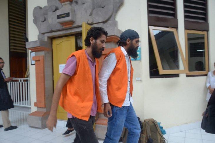 PN Denpasar vonis 18 tahun dua warga India