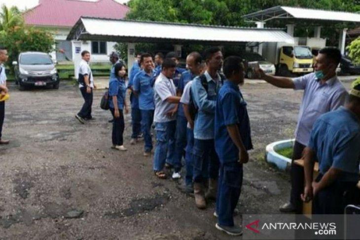 Karyawan Wasprod PT Timah Bangka Selatan cek kesehatan antisipasi virus COVID-19