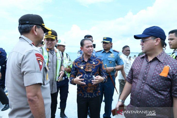 Bupati Bangka dampingi Gubernur Babel di Pelabuhan Penyeberangan Belinyu