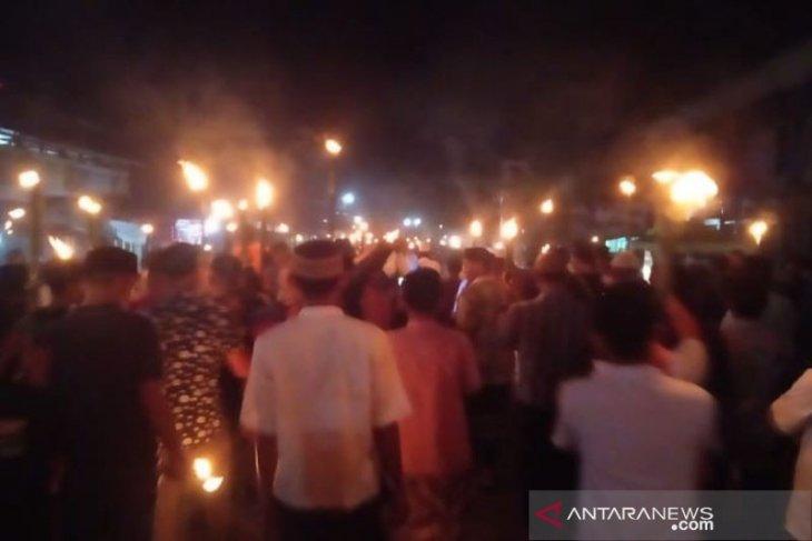 Ribuan warga Abdya berzikir keliling desa tolak bala corona