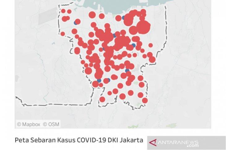 Di pantau dari situs corona.jakarta.go.id, ada 210 positif COVID-19 berada di DKI