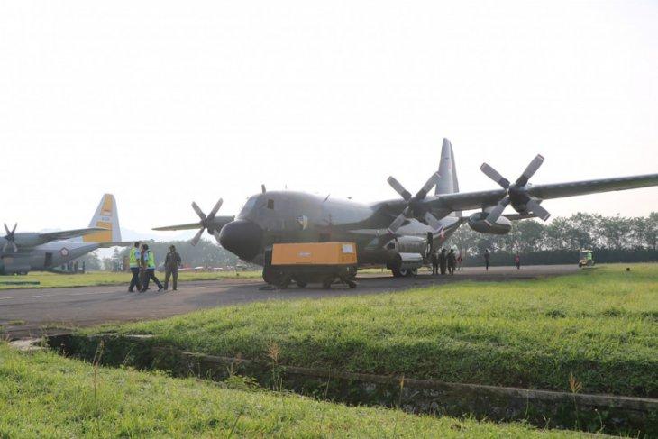 Hercules Skadron Udara 32 diberangkatkan ke China ambil alkes COVID-19