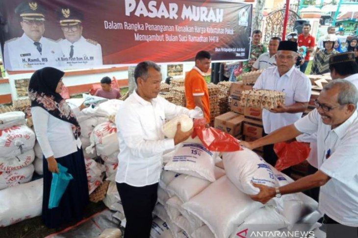 Harga gula pasir di Nagan Raya Aceh melonjak Rp20 ribu/kg