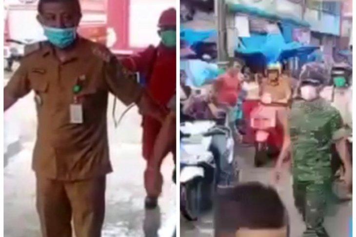 Forkopincam Babalan dan Sei Lepan semprot disinfektan sarana publik