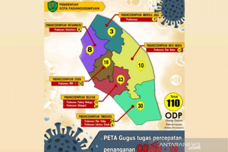 ODP COVID-19 di Padangsidimpuan bertambah jadi 110