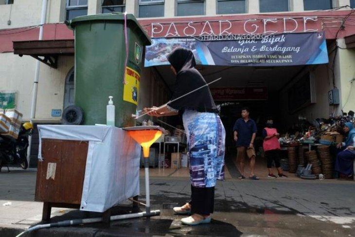 Fasilitas tempat cuci tangan Pasar Gede Solo
