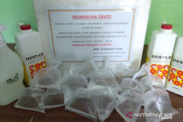 Puskeswan Curup siapkan disinfektan secara gratis