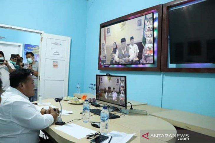 Bupati Mukomuko ikuti video conference dengan Gubernur