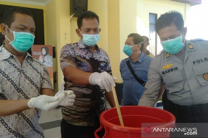 Polres Singkawang musnahkan sabu senilai Rp79 juta