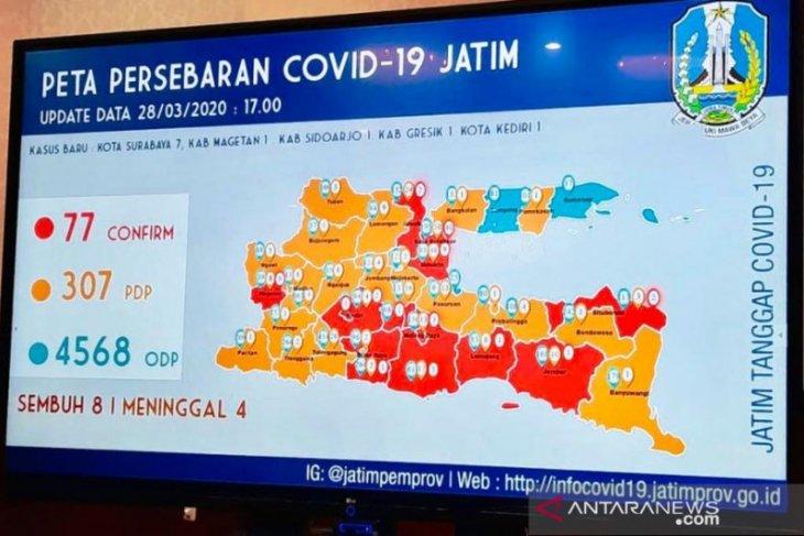 Kota Kediri masuk daerah terjangkit COVID-19
