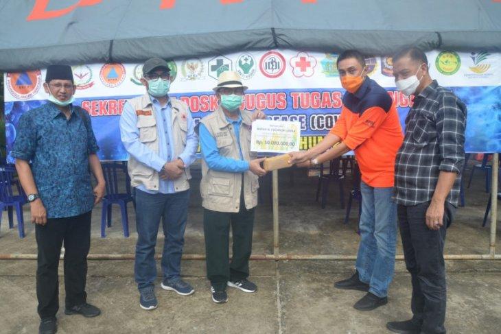 Gubernur Jambi serahkan bantuan pribadi Rp50 juta untuk penanganan COVID-19
