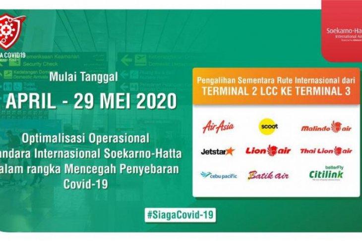AP II: Pembatasan operasi Terminal 1 dan 2 Soetta mulai 1 April 2020