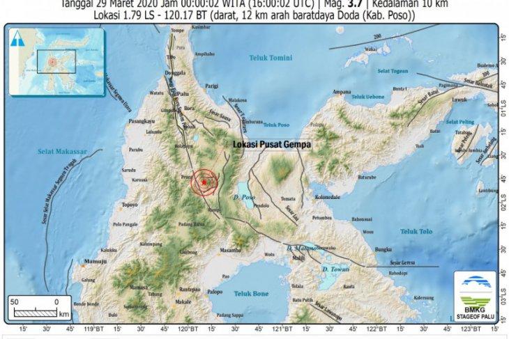 72 kali gempa susulan guncang Sulteng dalam empat hari terakhir