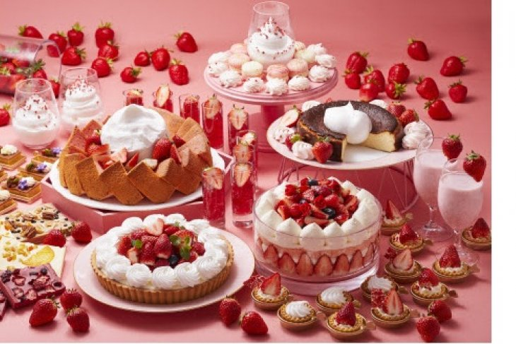 Keio Plaza Hotel Tokyo offers strawberry dessert buffet implementing precautionary measures regarding the coronavirus