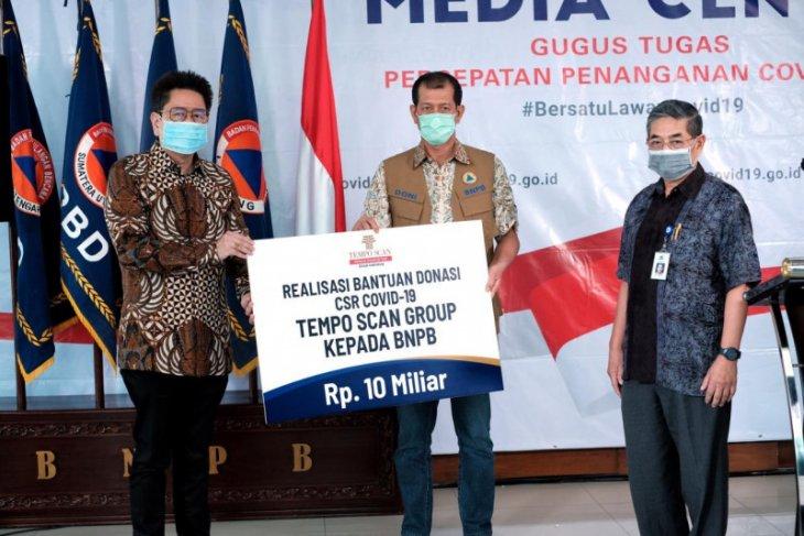 Tempo Scan Group realisasikan bantuan senilai Rp10 miliar ke BNPB