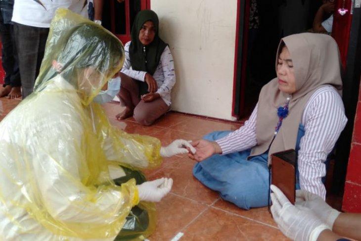 Pascameninggalnya PDP asal Sidimpuan, pedagang kain di Pandan langsung dirapid test COVID-19