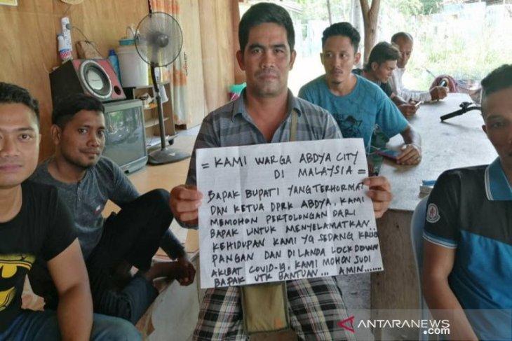 Terancam kelaparan, ribuan warga Abdya di Malaysia butuh bantuan