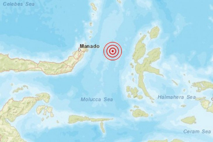 Gempa magnitudo 5,5 guncang Sulut, magnitudo 3 di Palu