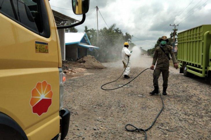 SKK Migas-PetroChina lakukan disinfeksi di Tanjabbar untuk  cegah penyebaran COVID-19