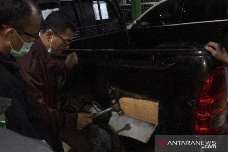 Polda Jambi gagalkan peredaran 39kg sabu-sabu yang disembunyikan di mobil pick up