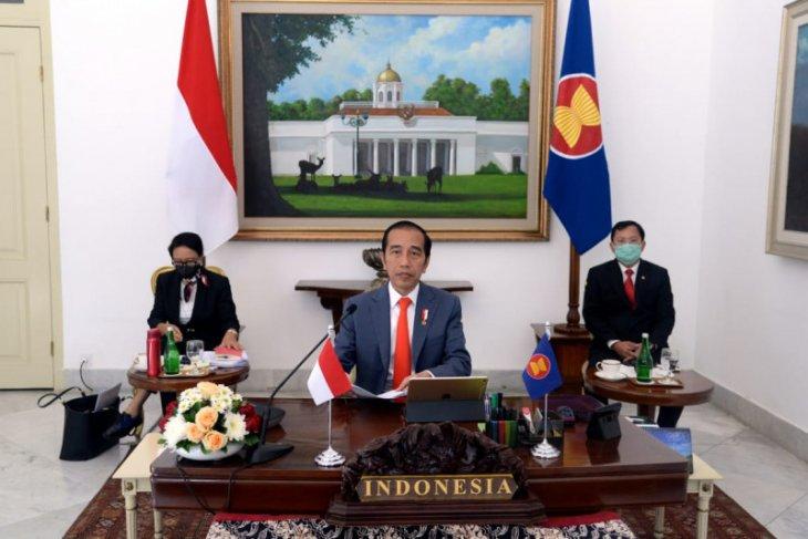 Ikuti KTT Khusus ASEAN, Presiden Jokowi tekankan pentingnya sinergi