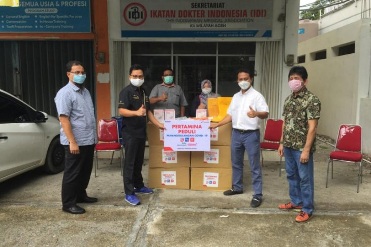 Pertamina Aceh salurkan APD untuk tenaga medis