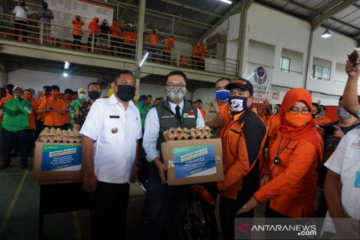 Sejuta keluarga terdampak corona di Jawa Barat dapat bantuan tunai