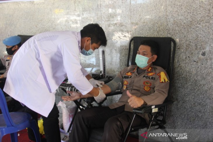 Polres Bangka gelar aksi donor darah guna pemenuhan kebutuhan darah