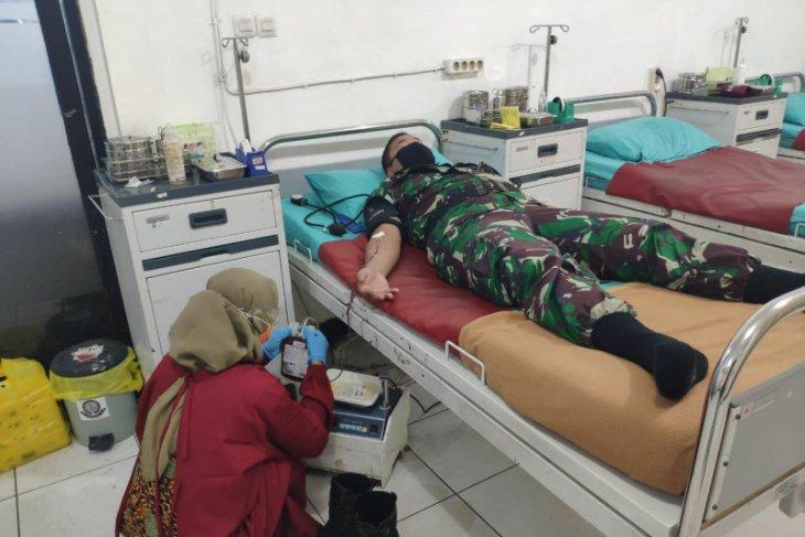 Kodam XII/Tpr gelar donor darah bantu ketersediaan stok di PMI