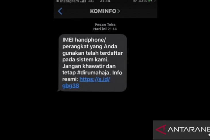 Kominfo mulai mengirim sms notifikasi ke Ponsel dengan IMEI terdaftar