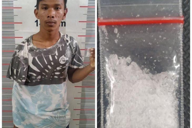 Lagi asyik meracik sabu, seorang petani ditangkap Polisi Besitang Langkat