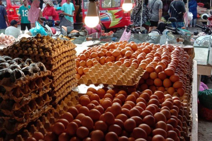 Harga telur ayam ras di pasar tradisional Ambon bervariasi