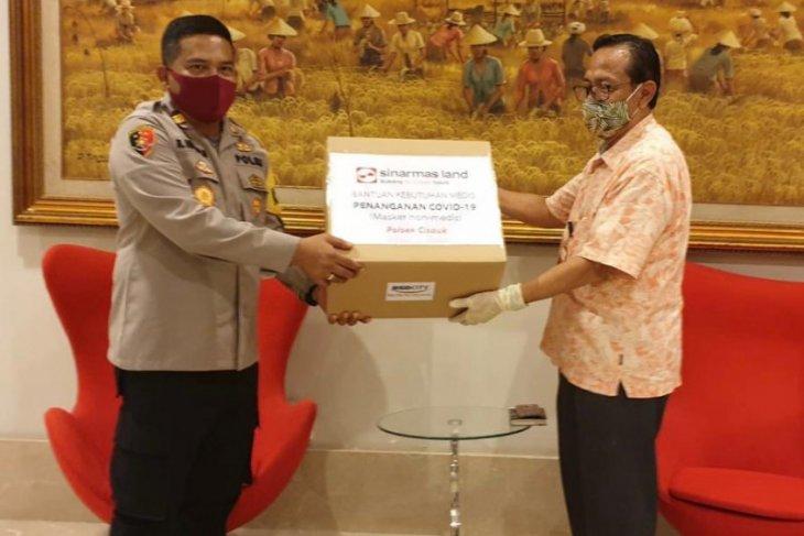 Sinar Mas Land berikan 2.949 masker kepada Polri-TNI