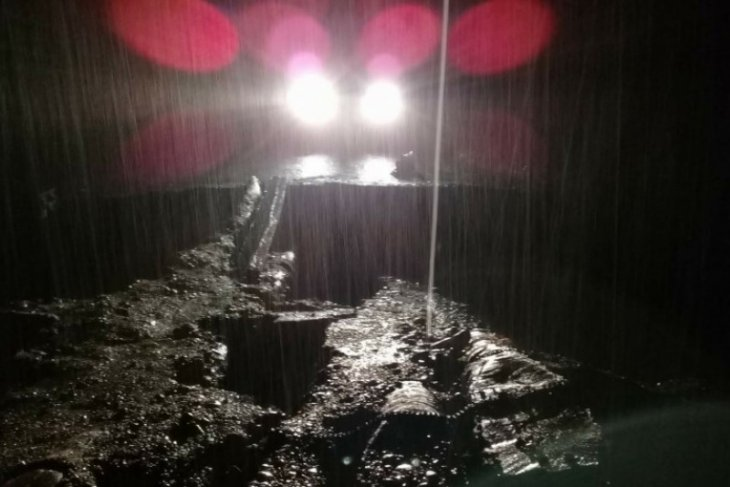 Satu jembatan putus akibat longsor di Aceh Singkil